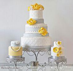 Yellow and gray wedding