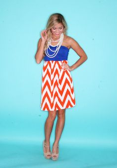 Game Day Chevron #gators. I like all of their game day dresses!