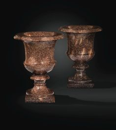 A PAIR OF SWEDISH RED PORPHYRY MEDICIS VASES, 19TH CENTURY