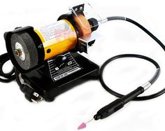 """US $44.95  3"""" Mini Grinder Bench with Flex Shaft Flexible Rotary Tool 1 3HP 10000 RPM New 