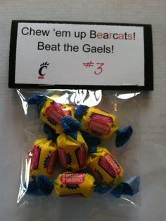 Treat Bags & Snacks on Pinterest | Team Snacks, Team Gifts and Spirit ...