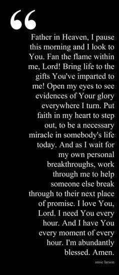 Start a Day Prayer