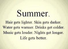 The truth about summer!!