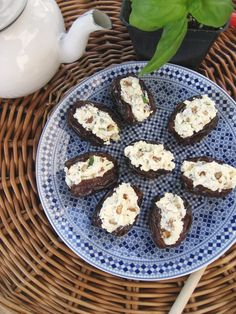 Dates have natural regenerative, anti-oxidizing, and soothing properties, all clinically proven to increase collagen production. Gorgonzola & Pecan Stuffed Dates by dinnersanddreams.net