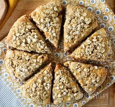 Oatmeal Date Scones | My Darling Vegan