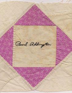 vintage signature quilt blocks | Folk Fibers