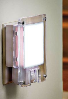 This elegant nightlight saves energy by turning on only when it senses motion.