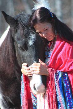 Cherokee Woman & Horse