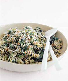 Fusilli With Spinach, Ricotta, and Raisins