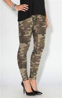 Deb Shops #camo print #leggings