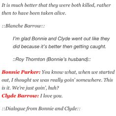 Bonnie and Clyde quotes