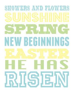 Easter printable via