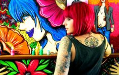 MY DAUGHTER-Lucila Rumi- tattoo artist- in the back art by her too