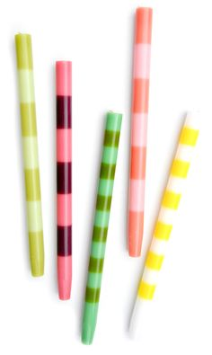 Striped Taper Candles