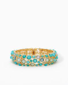 Champagne Wishes Bracelet | UPC: 410005256164 #charmingcharlie