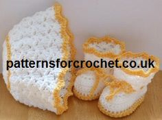 Free baby crochet pattern, hat and boots usa