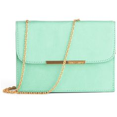 Mint to Be Yours Bag ($98) ❤ liked on Polyvore