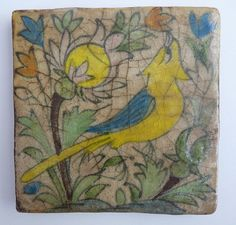 Persian Yellow Bird Tile