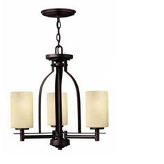 4722mc chandeli, threelight chandeli, copper threelight, hinkley light, dine room