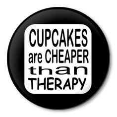 cupcake button badge