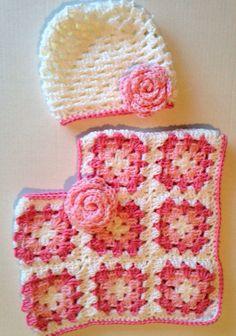 Granny square toddler poncho