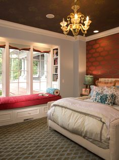 Bedroom Red Wall Design, Pictures, Remodel, Decor and Ideas - page 4