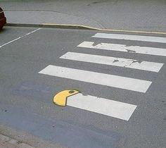 pacman the pedestrian