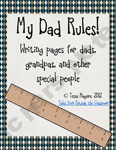 My Dad Rules! Father's Day (and other special people) writing