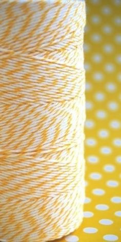 Lemon yellow twine.
