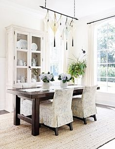 dining rooms, chair, home tours, interior, dine room, light fixtures, cottages, cottage style, cottage homes