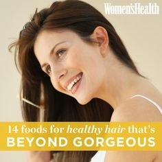 Eat your way to healthier hair! http://www.womenshealthmag.com/beauty/foods-good-for-hair?cm_mmc=Pinterest-_-womenshealth-_-content-food-_-foodsforhealthyhair