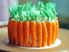 super cute carrot cake #easter #carrot_cake #recipes #cooking #yummy