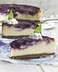 ADORA's Box: LEMON CURD AND BLUEBERRY CHEESE CAKE