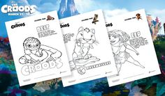 Get creative with these 'Coloring Page' activities from #TheCroods! Download here: http://www.thecroodsmovie.com/pinterest/Printables_ColoringPages.pdf