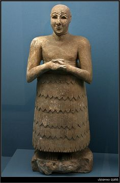 "Statue of Lugaldalu. This is his personal 'deputy priest' stand-in statue used to continually express gratitude to the god on behalf of the person it  represented when they were out of the temple. Placed in the Sumerian temple devoted to E-shar the chief god of Adab in ancient Iraq. The inscription on his right shoulder reads ""King of Adab"" but Lugaldalu was not listed in the Sumerian king lists, he was a more likely a governor of Adab ca. 2500 BCE.  www.istanbularkeoloji.gov.tr"