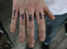 Finger tattoos - Baylen Levore