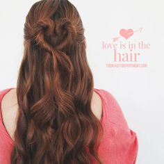 Adorable heart-shaped bun for Valentine's Day -- cute idea for little girls!