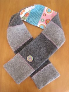 Upcycle wool scarf