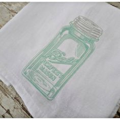Ball Jar Tea Towel from The Vintage Farmhouse for $10 on Square Market