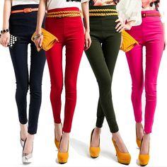 High waist pencil pants.