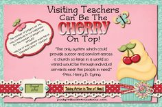 Pink Polka Dot Creations:  Aug 2012 Visiting Teaching Handout- Visiting Teachers Can Be The Cherry On Top!