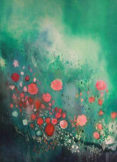 "Saatchi Online Artist: Georgina Vinsun; Mixed Media, 2012, Painting ""Evelyn - SOLD"""