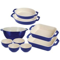 Enter to #win a Ceramic 9 Piece Cookware Set, Dark Blue, Value $380! #sweepstakes #giveaway