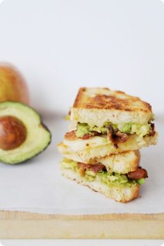 Grilled Cheese,avocado,bacon sandwich