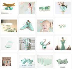 mint green, mint accessori, mint weddings