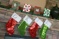 Photo Frame Stocking Holders {Christmas Ideas}