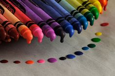 Rainbow poster boards, craft, color, melted crayon art, melted crayons, crayon melting, melting crayons, rainbow, art projects