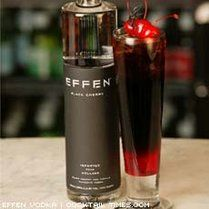 Dracula's Kiss~ (black cherry vodka, grenadine and coke).