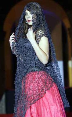 crochet art shawl