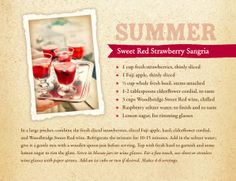 Summer Sweet Red Strawberry Sangria